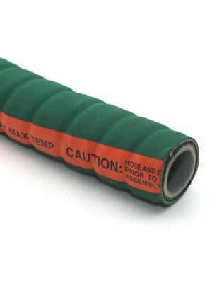 3 In I.D. ContiTech Green Fabchem 200 PSI Chemical Configurable Hose Assembly with Crimped Ends