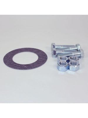 12 In Bolt And Gasket Kit, Including Zinc Plated Bolts & Nuts, 1/16 In Thick 150 LB Non-Asbestos Ring Gasket