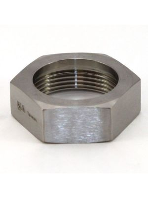 4 In T304 Stainless Steel 13H Union Hex Nut, Bevel Seat