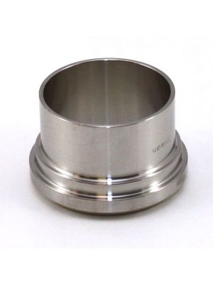 2 In T304 Stainless Steel 14A Ferrule, Bevel Seat Plain