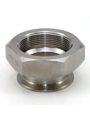 1-1/2 In T304 Stainless Steel 22MP Female Adapter, Sanitary Clamp x Female NPT