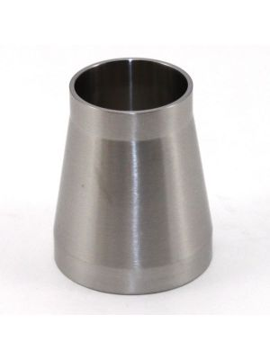 2 x 1-1/2 In T316 Stainless Steel 31W Concentric Reducer, Sanitary Weld