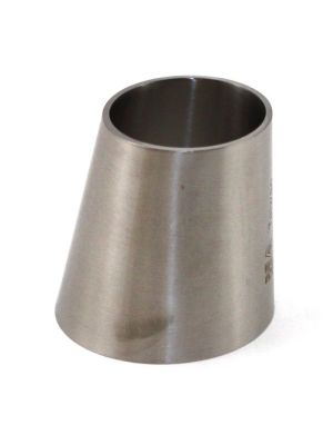 2 x 1-1/2 In T316 Stainless Steel 32W Eccentric Reducer, Sanitary Weld
