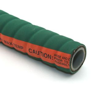 1 In I.D. ContiTech Green Fabchem 200 PSI Chemical Configurable Hose Assembly with Crimped Ends