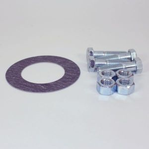 4 In Bolt And Gasket Kit, Including Zinc Plated Bolts & Nuts, 1/16 In Thick 150 LB Non-Asbestos Ring Gasket
