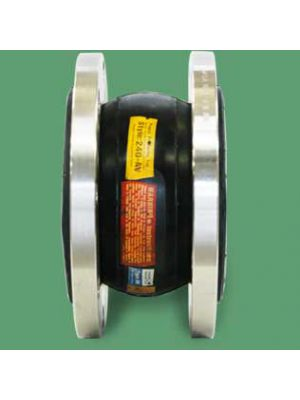 1-1/2 In x 6 In Rubber Expansion Joint, Single Arch with Floating 125/150# Floating Flanges, EPDM Cover and Tube (Proco 240-AV/EE Single Sphere EJ)