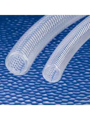 3/8 In I.D. Kuri-Tec Clearbraid K3130 Series BF Heavy Wall PVC Food & Beverage Hose for Beer, Wine, Beverage (Priced Per Foot)
